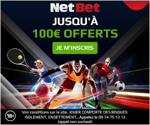 bonus de bienvenue Netbet : 300€ offerts
